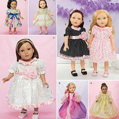"Dresses for 18"" Doll"