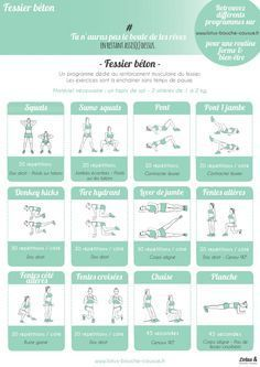Yoga Fitness Plan - Programme-fessier-béton-LBC - Get Your Sexiest. Body Ever!…Without crunches, cardio, or ever setting foot in a gym! Yoga Fitness, Fitness Workouts, At Home Workouts, Fitness Plan, Fitness Circuit, Fitness Classes, Fitness Sport, Fitness Equipment, Sports Nutrition