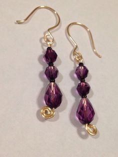 Hey, I found this really awesome Etsy listing at https://www.etsy.com/listing/188012012/rose-gold-purple-earrings-swarovski