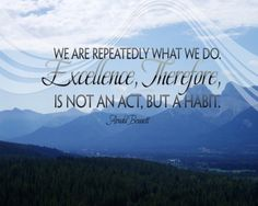 People are creatures of habit...lets just hope they are good habits