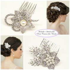 Personalized Bridal Accessory Inspiration Board ~ #bride #bridal #wedding #bridalhair #bridalhairaccessories #weddinghairaccessories #bridaljewelry #weddingjewelry