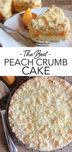 Easy Italian Peach Crumb Cake, made with fresh or canned Peaches, a deliciously buttery crumb bottom and topping, filled with a simple Peach filling. This easy Crumb Cake recipe is the perfect anytime Dessert! Try it this summer with fresh peaches! #crumbcake #peach Easy Crumb Cake Recipe, Cake Frosting Recipe, Frosting Recipes, Cupcake Recipes, Dessert Recipes, Pound Cakes, Pound Cake Recipes, Summer Pasta Dishes, Fun Food