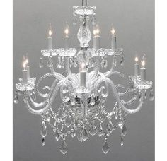 Shop for Swarovski Crystal Trimmed Crystal Chandelier Lighting. Get free delivery On EVERYTHING* Overstock - Your Online Ceiling Lighting Store! Get in rewards with Club O! Candle Style Chandelier, Crystal Candles, Light, Candlelight, Crystal Chandelier, Gallery Lighting, Candle Styling, Beautiful Chandelier, Crystal Trim