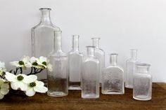 Vintage medical bottles / Free shipping in the by Brimfieldfinds, $55.00