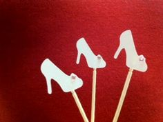 Shoe Cupcake Toppers by UniqPaperCreations on Etsy