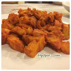 وهذا الشكل النهائي لحمسة البطاط اللذيذة جربوها وان شاءالله تعجبكم #Padgram