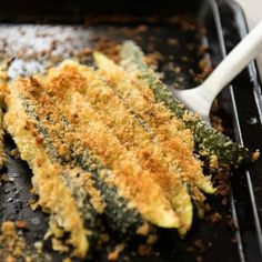 This Super Easy Parmesan Crusted Zucchini takes about 2 minutes to prepare and 10 minutes to cook. It's a brilliant super quick vegetable side!