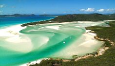 Whitehaven Beach in the Whitsundays, Australia - most incredible beach I've ever seen! Visited 4/2004