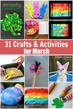 31 Days of March Crafts & Activities for Kids!