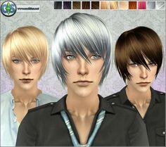 """Spring4Sims » The """"Emo"""" Hair for Guys by Cool Sims"""