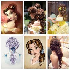 Princess belle hair ideas
