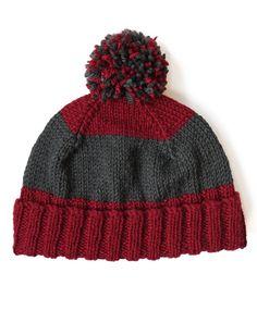Yarnspirations.com - Patons Beat the Bands Hat - Free Pattern - knit - easy  | Yarnspirations