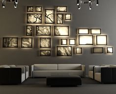 How about a backlit gallery wall?