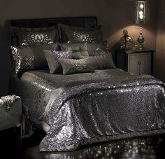 Sequin bedspread! Sequins make everything better
