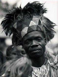 Africa | Kanioka Dancer.  Luluabourg.  Kasai.  Belgian Congo.  ca. 1956 | Photographer unknown.