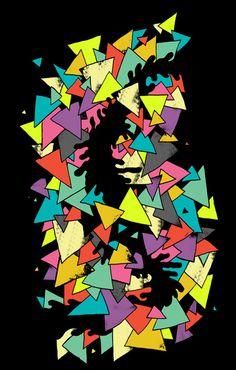 Triangles Art By AtomicChild