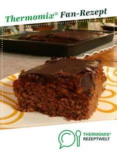 Schoko-Zucchini-Blechkuchen von inge bach. Ein Thermomix ® Rezept aus der Kategorie Backen süß auf www.rezeptwelt.de, der Thermomix ® Community.