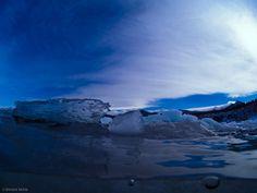 Shiretoko mountains from underwater