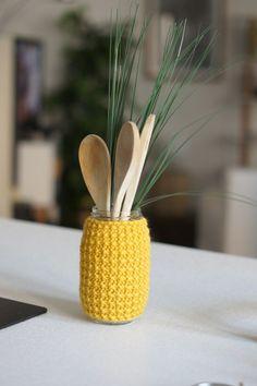 DIY CACHE POT tricot // Moutarde en cuisine! | Les trésors de Marion