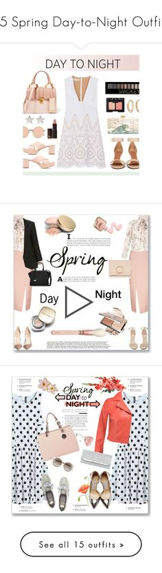 """15 Spring Day-to-Night Outfits"" by polyvore-editorial ❤ liked on Polyvore featuring DayToNight, waystowear, STELLA McCARTNEY, Mansur Gavriel, Lipstick Queen, Miu Miu, Givenchy, Edie Parker, Linda Farrow and Jennifer Meyer Jewelry"