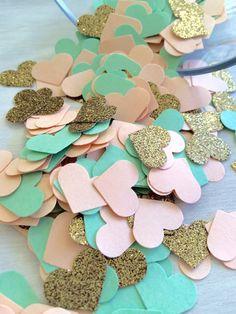Pêche menthe & or paillettes confettis Confettis par ConfettiGirls