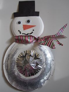easy crafts kids christmas snowman