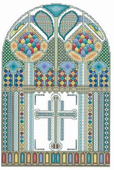Celtic Window - Cross Stitch Pattern. Maybe next after the one I'm getting ready to start?