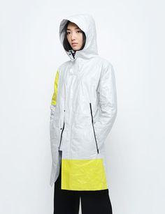 Thanatos Divide - TYVEK® Coat Light Gray Solar Yellow