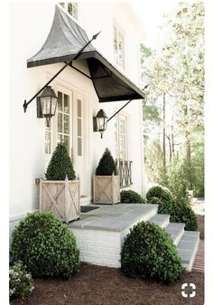 New Exterior Lighting Cottage Front Porches Ideas Front Door Steps, Iron Front Door, Front Door Porch, Exterior Front Doors, Entry Doors, Front Entry, Front Door Overhang, Cottage Front Porches, Cottage Front Doors