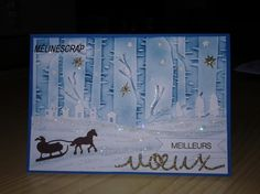 Stampin' Up! Sleigh Ride edgelits, Woodland embossing folder, MÉLINESCRAP by Hebras mireille
