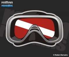 Scuba Diver Mask Dive Flag Diving Sticker Decal