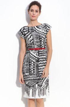 Donna Morgan Belted Linen Sheath Dress | Nordstrom