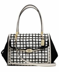 COACH MADISON MADELINE EAST/WEST SATCHEL IN GRAPHIC PRINT FABRIC