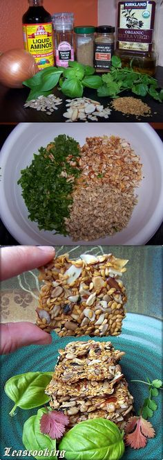 """Lea's Cooking: """"The Best Raw Flax Seeds Crackers Recipe"""" Russian"""