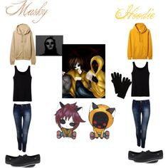 """Masky and hoodie"" by geekeryclothing on Polyvore"