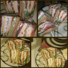 Bacon turkey club sandwhich made by me!! #chefjanetcook