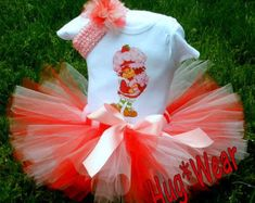 Berry Sweet Strawberry Shortcake Birthday Shirt Tutu por HugWear