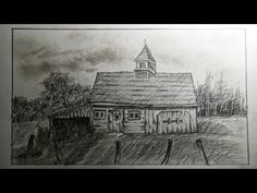 How to draw an old barn (old farm house) - Part 2