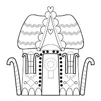 christmas village houses coloring pages - photo#44