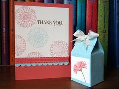 Thankyou card and treat holder by angelfishcrafts - Cards and Paper Crafts at Splitcoaststampers
