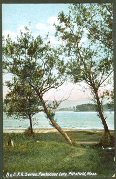 Pontoosuc Lake postcard from the very early 1900s. #Berkshires