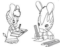 Zou et Elzée dessinent