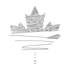 Canadian Maple Leaf Colouring Page with Abstract Drawing in Mind Form by Donald Lee Geometric Nature, Geometric Logo, Leaf Coloring Page, Coloring Pages, Nature Tattoos, Body Art Tattoos, Maple Leaf Tattoos, Maple Leaf Logo, Maching Tattoos