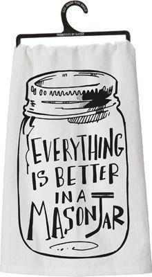 Mason Jar Dish Towel