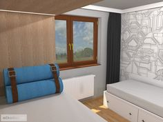 Dětský pokoj pro malého technika – RD Moravičany   očkodesign Bed, Furniture, Home Decor, Decoration Home, Stream Bed, Room Decor, Home Furnishings, Beds, Home Interior Design