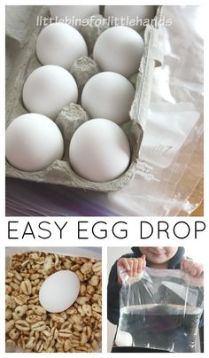 Egg Drop Activity STEM Challenge for Young Kids