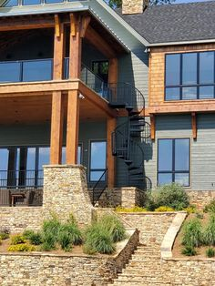 Stairs, Exterior, Cabin, House Styles, Glass, Home Decor, Stairway, Decoration Home, Drinkware