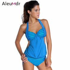 swimwear women tankini swimsuit hot sale summer beach Stripes Top Briefs and Shorts Print Bathing Suit 2 Pieces Sets 41990