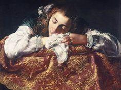 Спящая девушка.. Фети Доменико.
