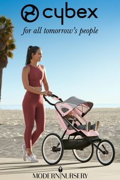 The Avi Jogging Stroller by Cybex is lightweight and streamlined for excellent running performance in urban streets and leafy parks! Jogging Stroller, Baby Gear, Nursery, Urban, Running, Park, People, Travel, Viajes